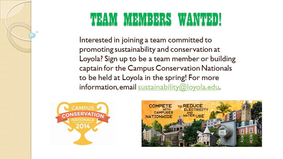 Campus Conservation Nationals Team Members Wanted!