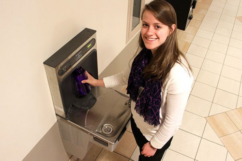 New Water Bottle Filling Stations Installed on Holy Cross Campus