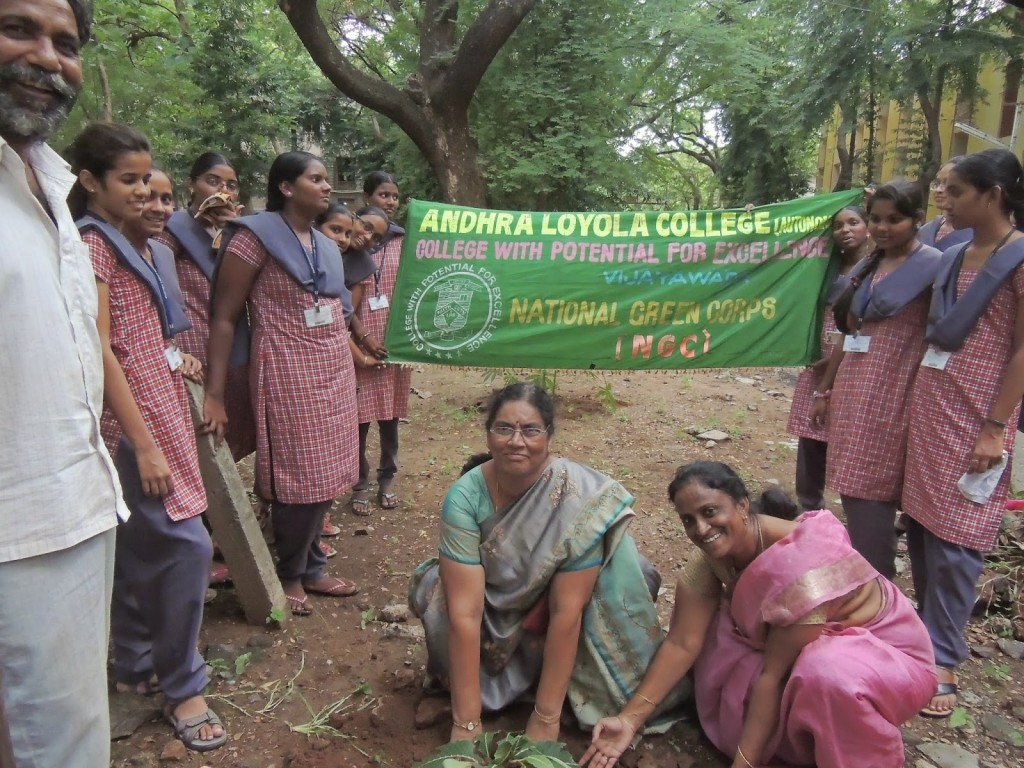 PLANTATION WORK AT ALC CHURCH BY NGC STUDENTS