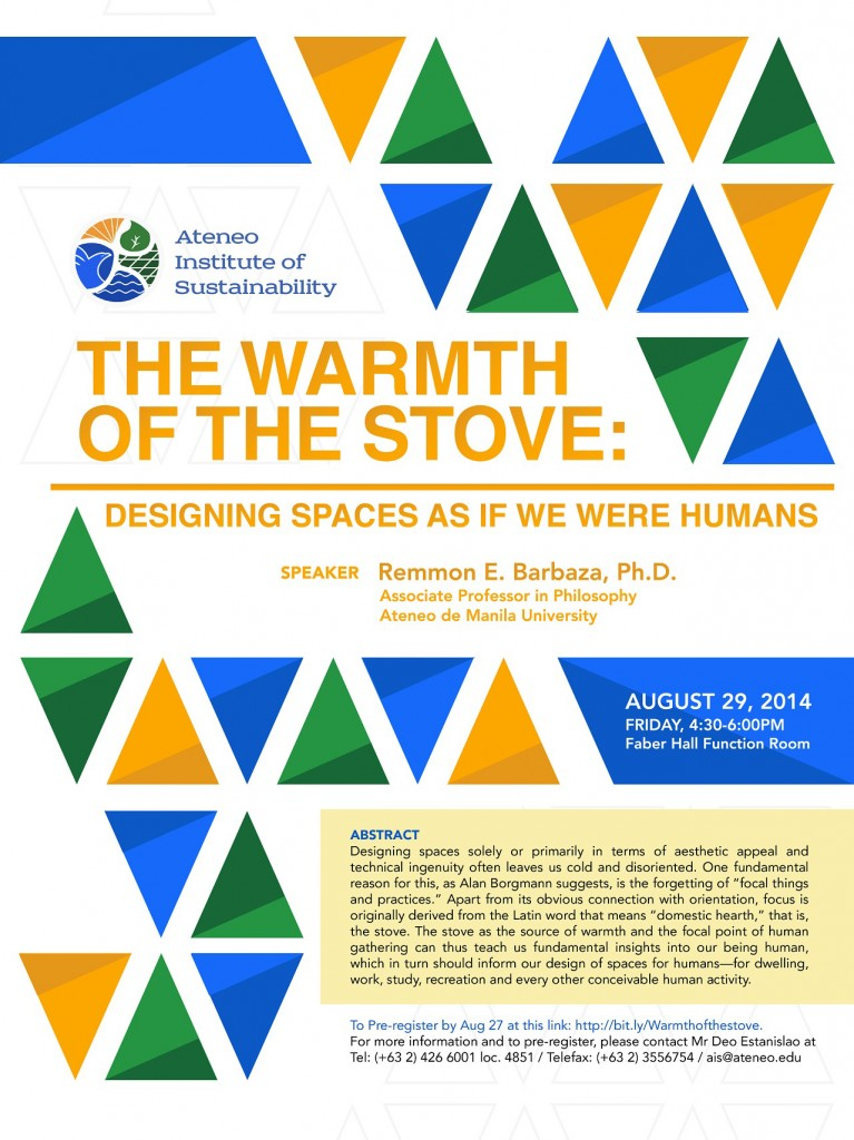The Warmth of the Stove: Designing Spaces As If We Were Human