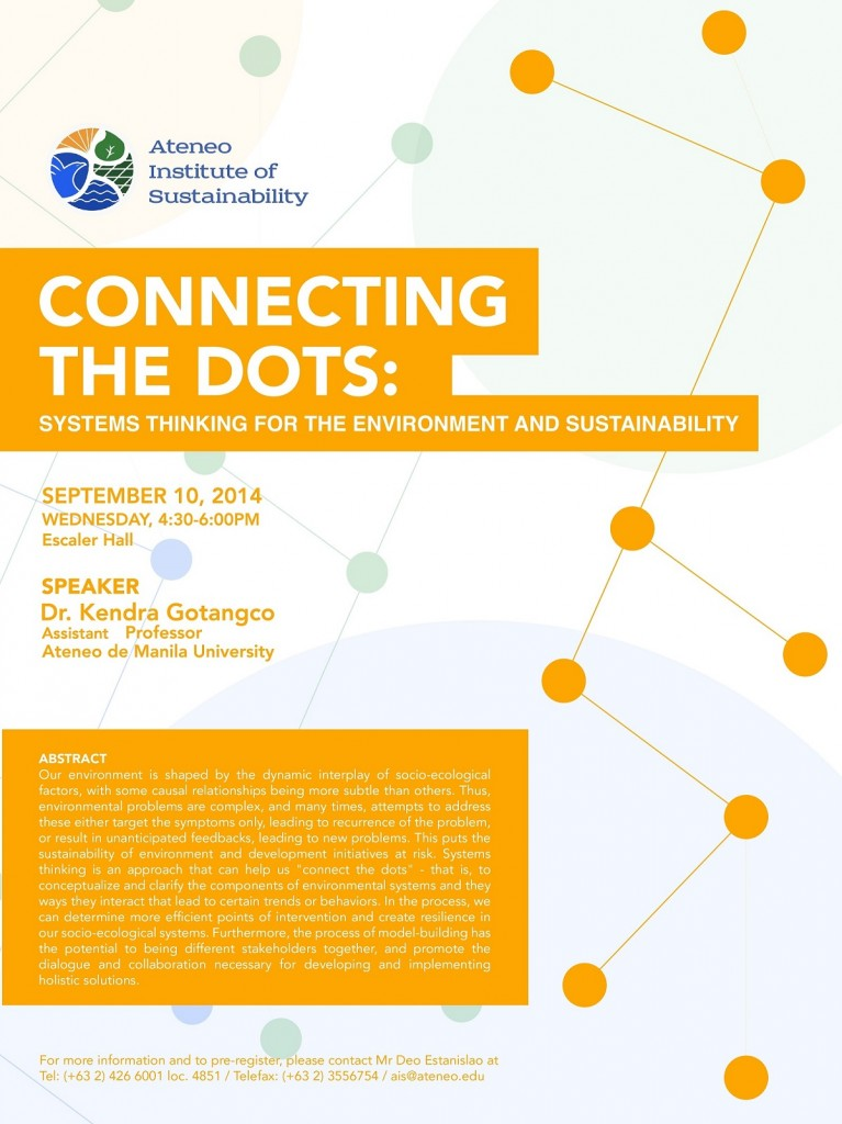 Connecting the Dots: Systems Thinking for the Environment and Sustainability