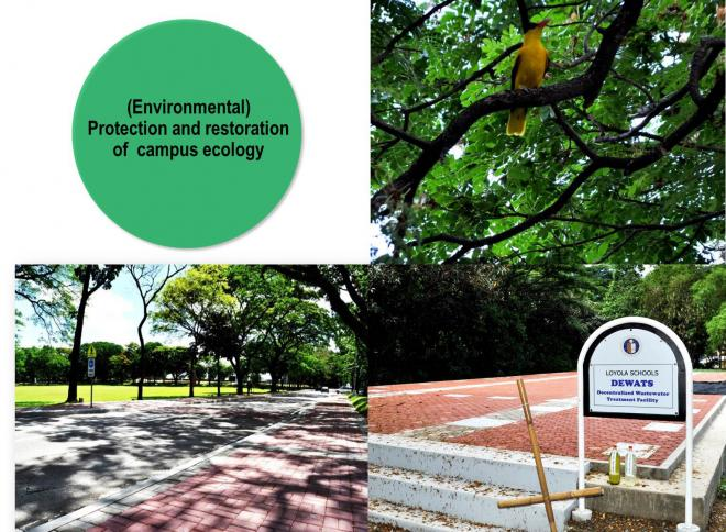 Environmental – Protection and restoration of campus ecology