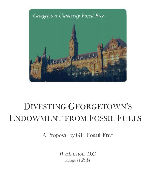 GU Fossil Free releases final divestment proposal
