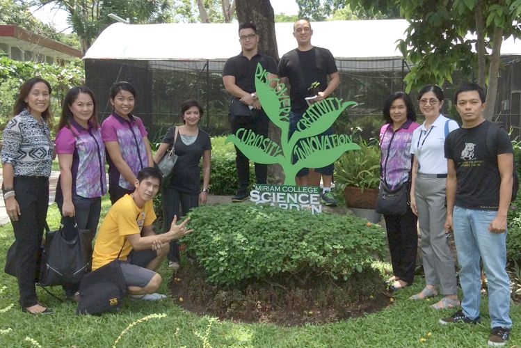 Xavier School's Environmental Advocacy Committee Benchmarks with Miriam College
