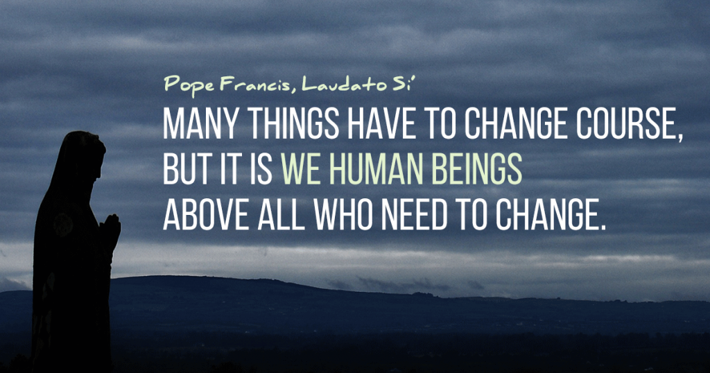 From carbon challenges to community gardens, living and taking action on Laudato si'