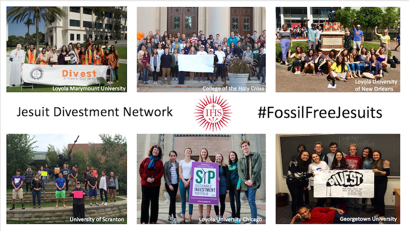 Jesuit students want to be part of the broader, sustainable movement in fossil fuel divestment