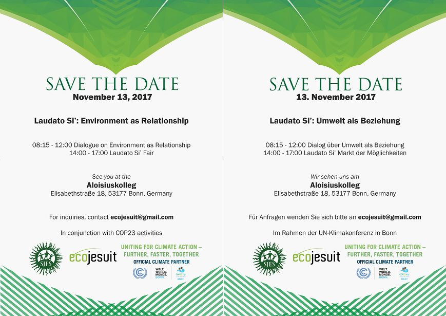 Ecojesuit hosts Laudato Si' event and fair in Bonn during COP23