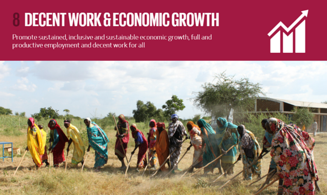 SDG 8 to tackle the crisis of extreme inequality, decent work and education