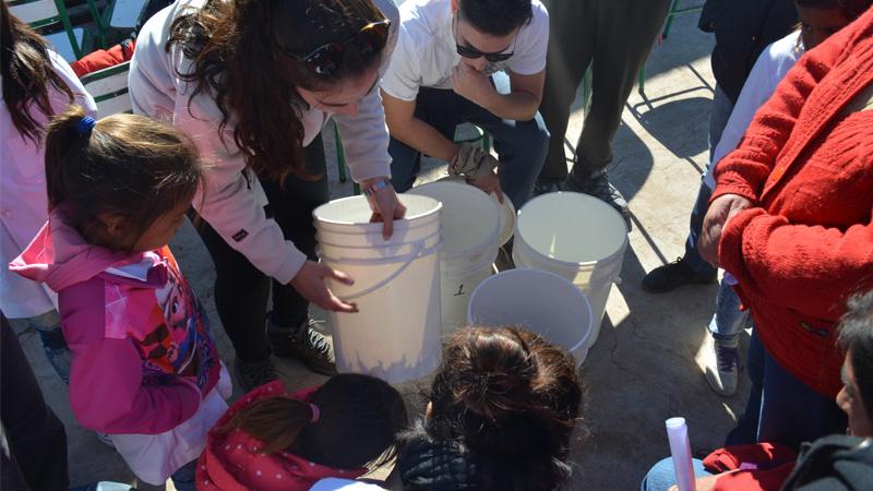 Tachos, Algodón y Clavos para Filtrar Arsénico en el Agua
