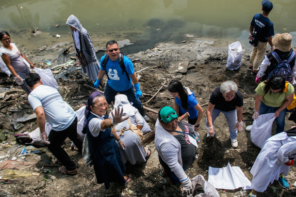 Season of Creation marked with river cleanup in Manila