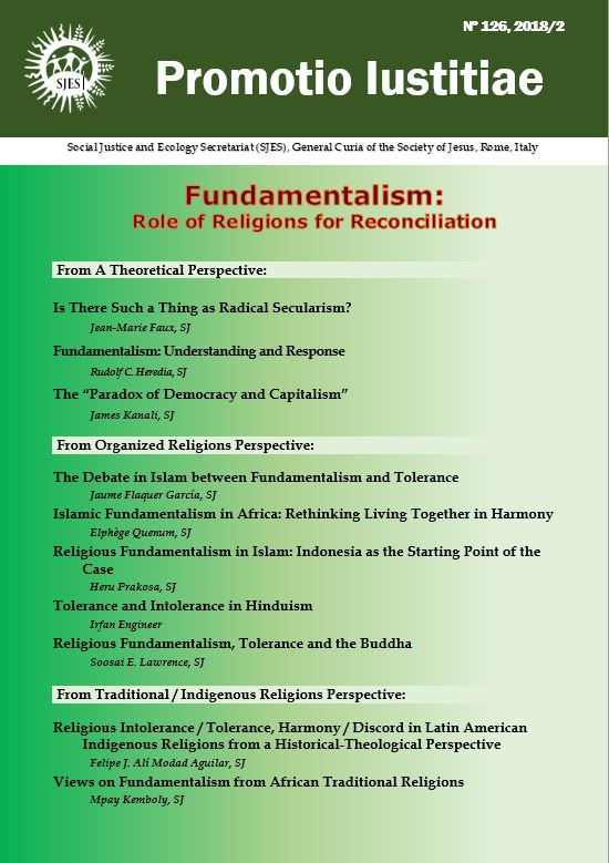 Promotio Iustitiae 126 on Fundamentalism: Role of Religions for Reconciliation