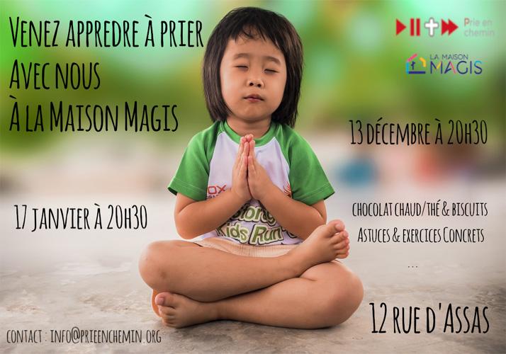 Soirée d'initiation à la prière ignatienne à la Maison Magis 17 janvier à 20h30 – 22h00