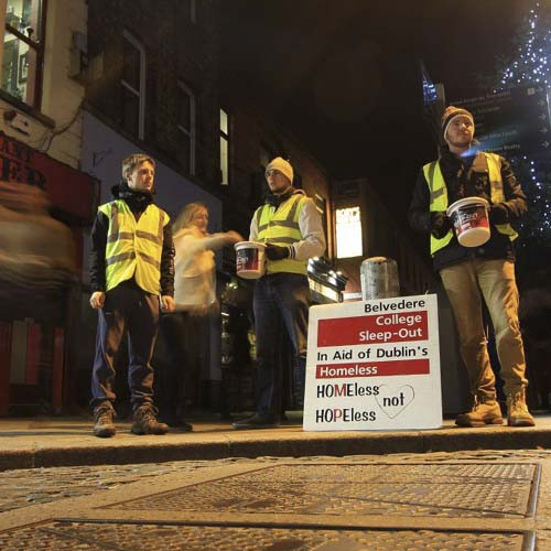 Sleep-Out with the homeless – Brother Eamonn Davis SJ