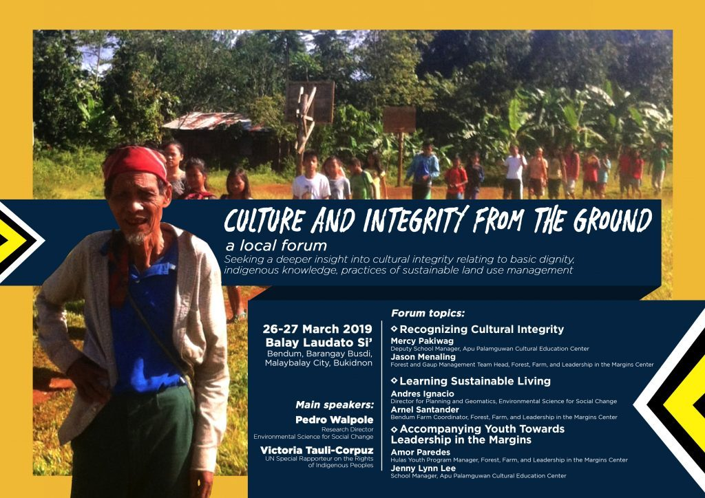 Culture and integrity from the ground, a local forum – Apu Palamguwan Cultural Education Center