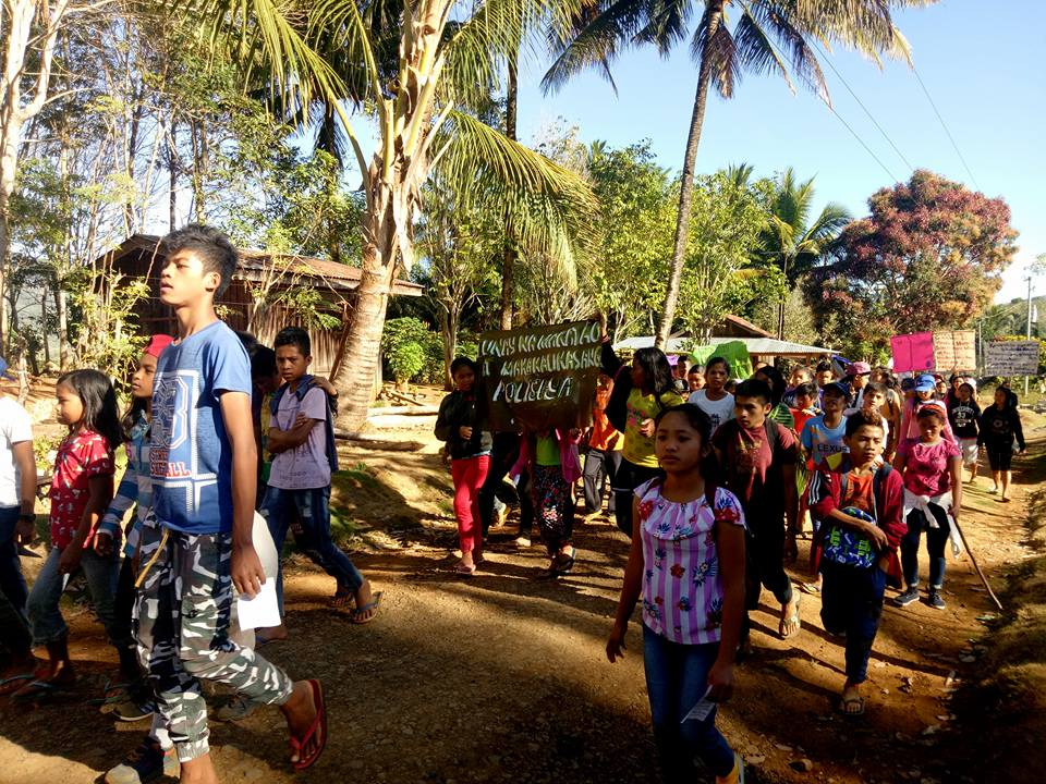Students from the Apu Palamguwan Cultural Education Center in Mindanao, Philippines join the Global School Strike for Climate