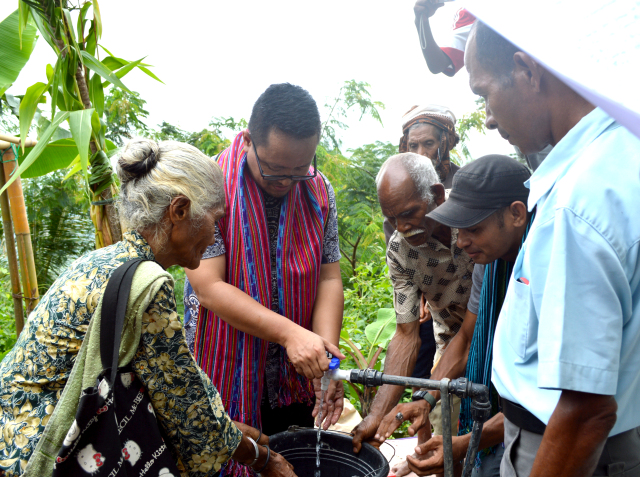 Inauguration of Water Facility in Tuhilo Kraik – The Jesuits in Timor-Leste
