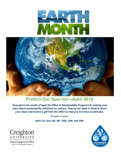 Earth Month 2019 – Creighton University