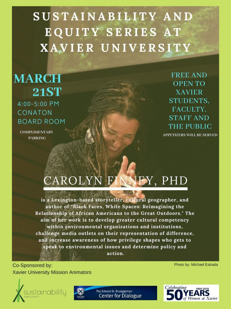 Sustainability and Equity series at Xavier University