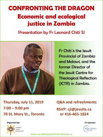 CONFRONTING THE DRAGON: Economic and Ecological Justice in Zambia – Fr Leonardo Chiti, SJ