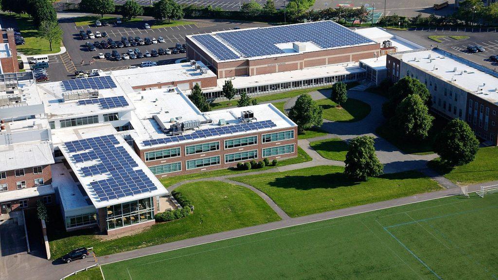 Work Continues on Solar Panel Installation – Boston College High School