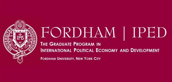 "IPED Lecture: ""Coffee and Sustainability"" – Fordham University, Thursday, October 3, 2019 4 – 5 p.m."