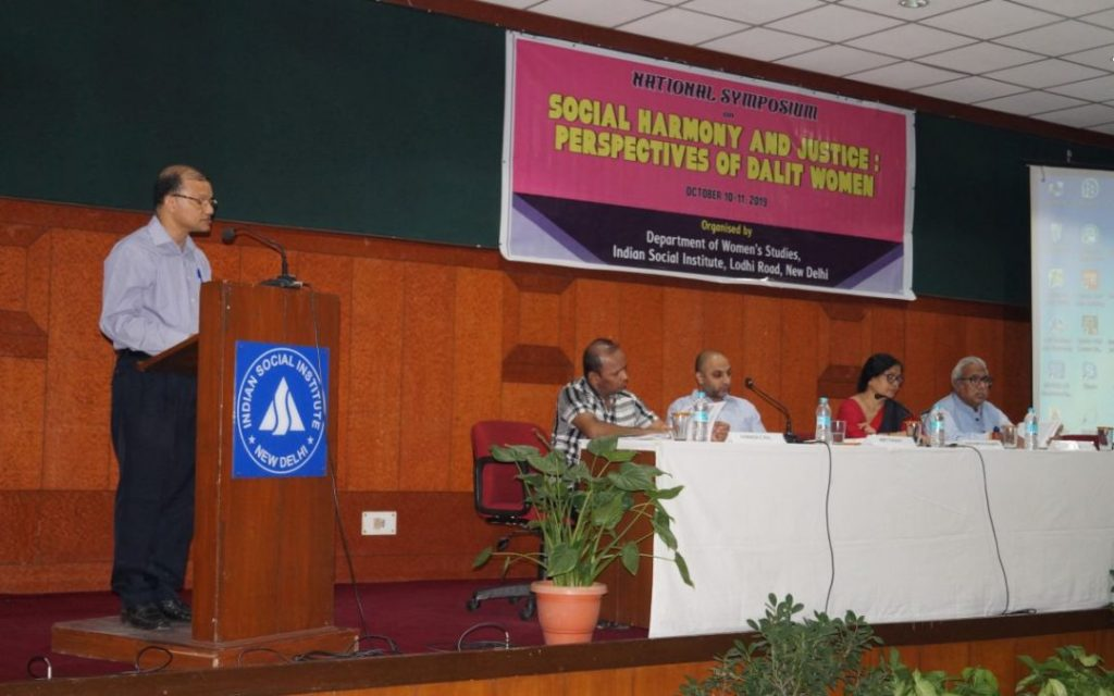 "National Symposium on ""Social Harmony and Justice: Perspectives of Dalit Women – Dr. Denzil Fernandes SJ"