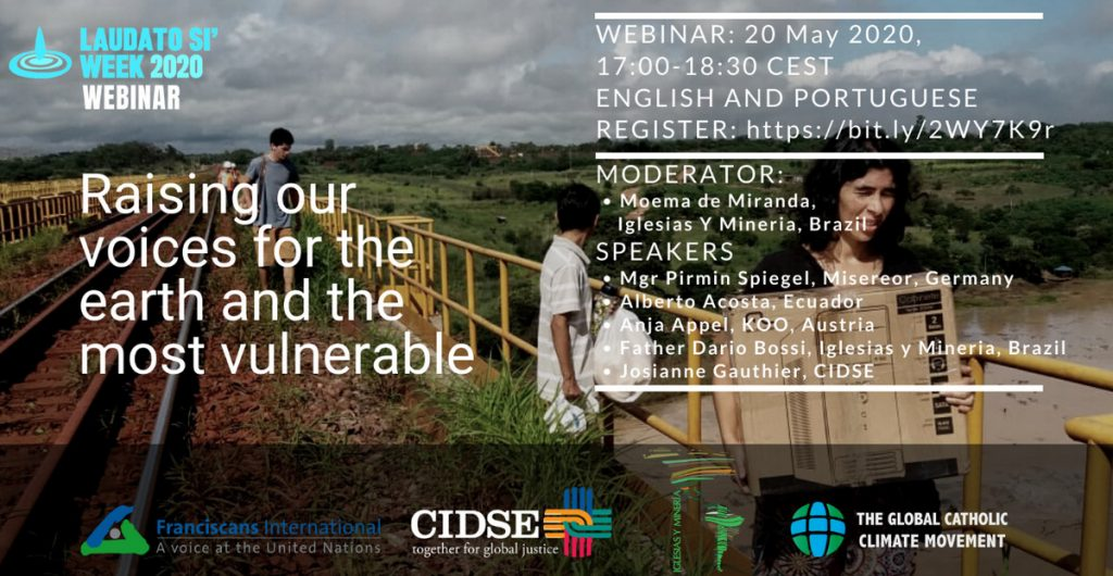 Raising our voices for the earth and the most vulnerable – CIDSE